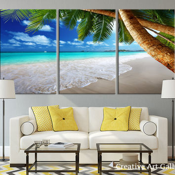 Beach Wall Art - Tropical Island Beach Canvas Print, Beach Wall Art Canvas Print, Tropical Beach, Tropical Island Wall Art Canvas