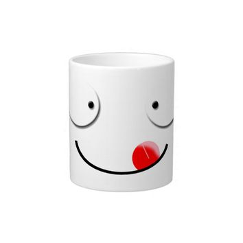 yum smiley face giant coffee mug