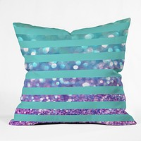 Lisa Argyropoulos Tango Frost Stripes Throw Pillow