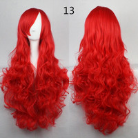 COS Wig Hair Extension woman wigs Hatsune Miku Cosplay Wig long hair wig wigs synthetic hair cap multicolor hair curly wig hair S2312-13