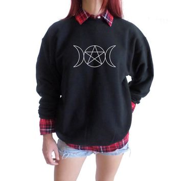 Triple Goddess Pentacle Sweatshirt