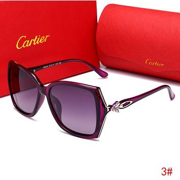 Cartier Trending Woman Men Stylish Summer Sun Shades Eyeglasses Glasses Cute Fox Head Sunglasses 3# I13517-1