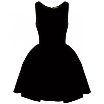 Alaia - Velvet Dress with Full Skirt (Black)
