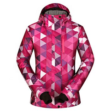 Ski Jackets Women Winter 2018 New Outdoor Windproof Waterproof Warm Thermal Hooded Coat Snow Skiing And Snowboard Jacket Brands