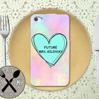 Future Mrs. Gilinsky Pastel Pink Tumblr Candy Heart Cute Rubber Tough Case iPhone 4/4s and iPhone 5 and 5s and 5c and iPhone 6 and 6 Plus +