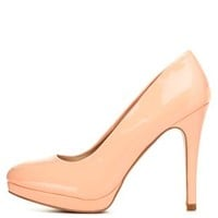 Peach Qupid Mini-Platform Pumps by