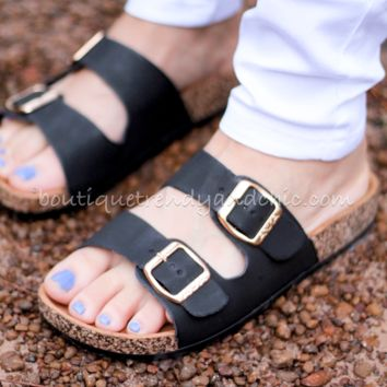 ON SALE! BIRK INSPIRED DOUBLE STRAPPED SANDALS