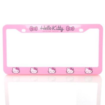 Hello Kitty - Pink License Plate Frame