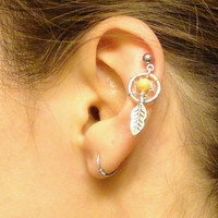 Small Dream Catcher Tragus Piercing Gemstone Cartilage Upper Earring