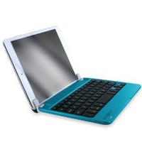 Minisuit Bluetooth QWERTY Keyboard Stand Case for iPad Mini, 2 Retina Display (Blue Aluminum Finish)