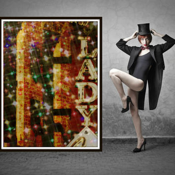 Club signs. Photograph of LADY sign. Wall art for girl's bedroom or powder room. Gift for her. Lady dazzles. Travel photography by Key2MyArt