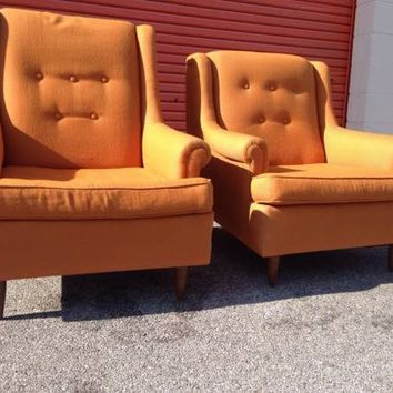 Pair Mid Century Club/ Lounge Chairs by Rowe
