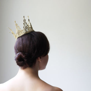Gold Gothic Empress Crown - fairy tale, royalty, birthday crown, bridal crown, bachelorette party