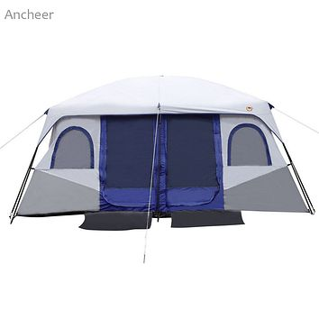 Waterproof 8-10 Person 2-Bedroom Cabin Tent