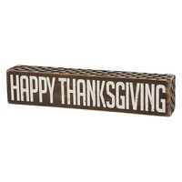 ''Happy Thanksgiving'' Wooden Box Sign Art