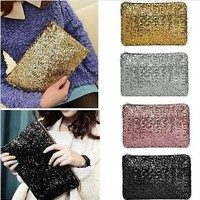 Sparkling Sequins Fashion Clutch Evening Party Bag Handbag Womens Tote Purse