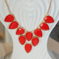Checking Nice Twice Necklace-Red