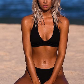 The Mini - Black Bond-Eye Bikini