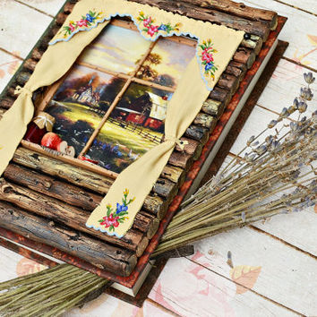 OOAK Polymer Clay Journal / Notebook / A5 / 140 x 200 mm / 5.51 x 7.87 inches