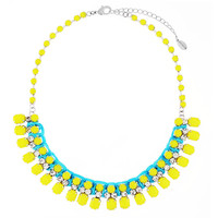 Neon Yellow Crystal Necklace