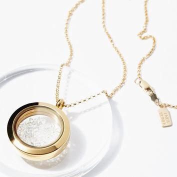 Free People Herkimer Crystal Shake Locket