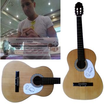 Russell Dickerson Autographed Full Size 39 Inch Country Music Acoustic Guitar, Proof Photo