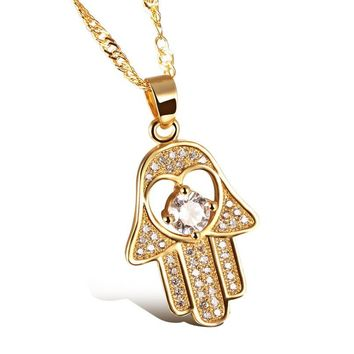 OPK Fatima Hand Pendant Necklaces