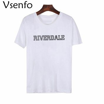 Vsenfo Riverdale T-Shirt Women Fashion Jughead Jones Wuz Here T Shirt Betty TV Show Tumblr Riverdale High School Shirt