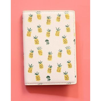 Pineapple Passport Case in Vegan Leather