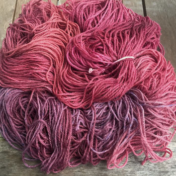 Hand Dyed Yarn - Grapes and Wine - 100% Merino Superwash - 4 ply DK 100gr