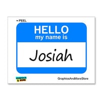 Josiah Hello My Name Is Sticker