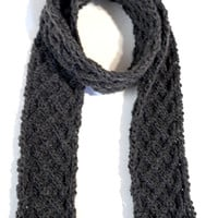 Celtic Knot Brown Wool Scarf