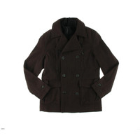 Kenneth Cole Reaction Mens Wool Blend Long Sleeves Pea Coat