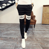Autumn Korean Men Print Skinny Pants Pants Sportswear [6533771591]