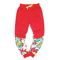DIEM Art Basil Sweatpants in Red