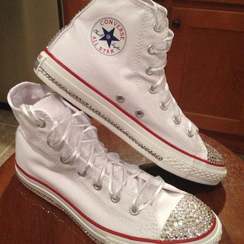Shop Bling High Top Converse on Wanelo 3d742036a2a8
