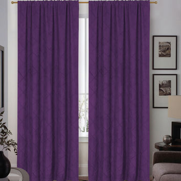 Madison Home Sierra Rod Pocket Curtain Panel Pair