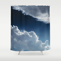 Sky, clouds and lights. Shower Curtain by VanessaGF