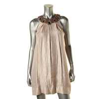 Hayden Womens Shimmer Elbellished Party Dress