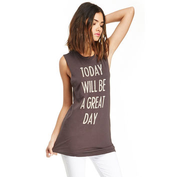 Europe and Solid Color Round Neck T -shirt with White Letters