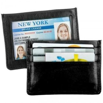 Super Soft Leather Slim Wallet/Credit Card Holder 2PC