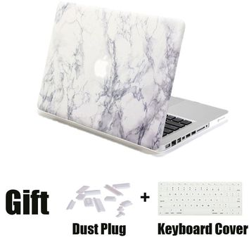 Hard Protective Cover for Macbook Pro 13 Case Marble Texture Laptop Sleeve Shell Cases for Macbook Pro with Keyboard Cover Plug