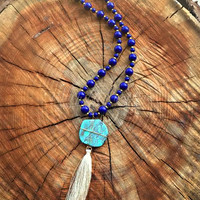 A TRUE BELIEVER TASSEL NECKLACE - ROYAL