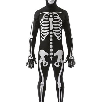 Halloween Costumes for Men Adult Black Zombie Ghost Costume Cosplay Jumpsuits