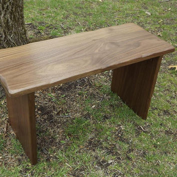 Reclaimed wood/ Solid Black Walnut/ smooth/ small bench/ riser/stand