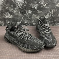 Adidas Yeezy Boost 350 v2 Static Reflective Black Sport Running Shoes - Best Online Sale