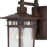 "12"" Outdoor Hanging Lights in Rustic Bronze Finish"