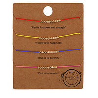 4 Mood Fine Friendship Bracelets - Jewellery  - Accessories