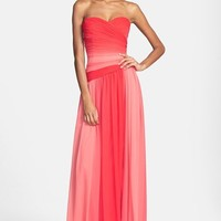 Women's ML Monique Lhuillier Bridesmaids Ombre Chiffon Gown