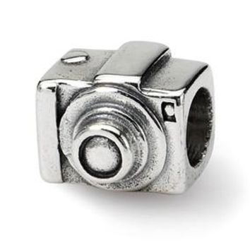 Sterling Silver Camera Bead